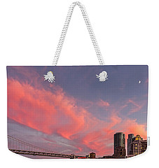 Weekender Tote Bag featuring the photograph Embarcadero Sunset by Kate Brown