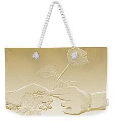 Embossed Gold Rose By Jan Marvin Studios Weekender Tote Bag