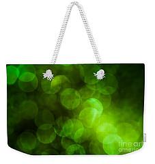 Emerald Bokeh Weekender Tote Bag