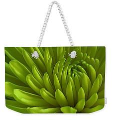 Emerald Dahlia Weekender Tote Bag
