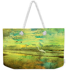 Emerald Evening Weekender Tote Bag by Betsy Knapp
