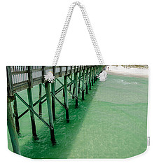 Weekender Tote Bag featuring the photograph Emerald Green Tide  by Susan  McMenamin