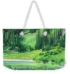 Emerald Lake Weekender Tote Bag by Barbara Jewell
