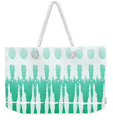 Emerald Ombre  Weekender Tote Bag by Linda Woods
