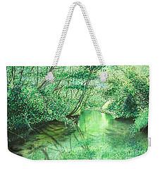 Emerald Stream Weekender Tote Bag