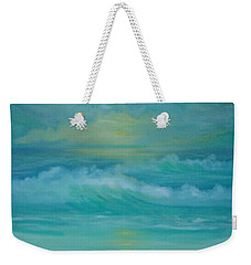 Emerald Waves Weekender Tote Bag by Holly Martinson