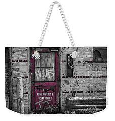 Emergency Exit Weekender Tote Bag