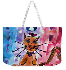 Emma's Spotted Kitty Weekender Tote Bag