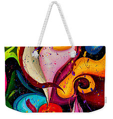 Modern Colorful Abstract  Weekender Tote Bag
