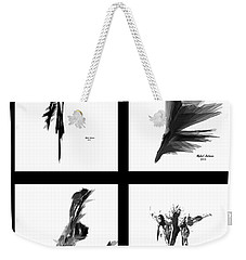 Emotions In Black - Abstract Quad Weekender Tote Bag