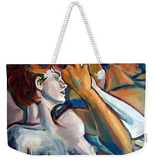 Weekender Tote Bag featuring the painting Empathy by Helena Wierzbicki