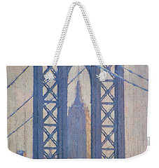 Empire State Building Through The Manhattan Bridge Weekender Tote Bag