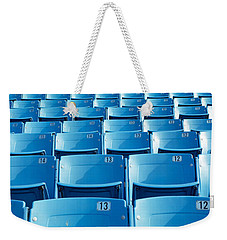 Empty Blue Seats In A Stadium, Soldier Weekender Tote Bag by Panoramic Images