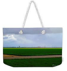 Weekender Tote Bag featuring the digital art Empty Green by Luc Van de Steeg