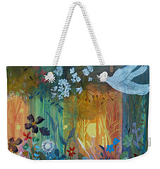 Weekender Tote Bag featuring the painting Encantador by Robin Maria Pedrero