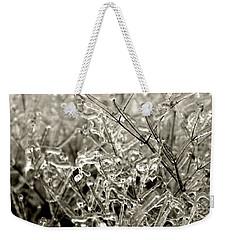 Encased In Ice IIi Weekender Tote Bag by Bonnie Myszka