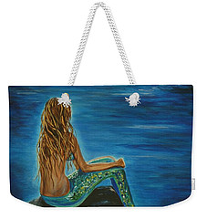 Enchanted Mermaid Beauty Weekender Tote Bag by Leslie Allen