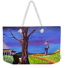 Weekender Tote Bag featuring the painting End Of Day Highway 98 by Ecinja Art Works