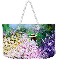Weekender Tote Bag featuring the painting End Of May by Kume Bryant