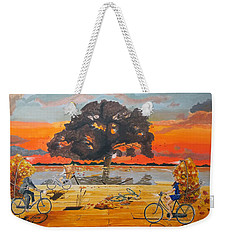 End Of Season Habits Listen With Music Of The Description Box Weekender Tote Bag