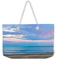 Weekender Tote Bag featuring the photograph End Of The Blue Hour by Steven Santamour