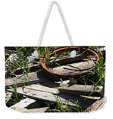 Weekender Tote Bag featuring the photograph End Of The Line by Meghan at FireBonnet Art