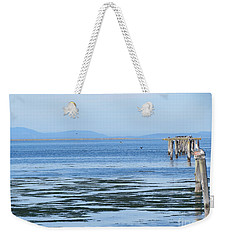 End Of The World In Blue Weekender Tote Bag