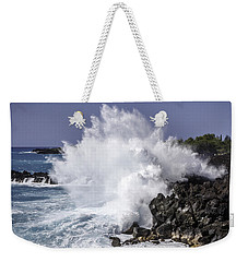 End Of The World Explosion Weekender Tote Bag by Denise Bird