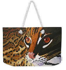 Endangered - Ocelot Weekender Tote Bag by Mike Robles