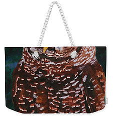 Endangered - Spotted Owl Weekender Tote Bag by Mike Robles