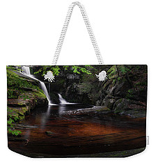 Weekender Tote Bag featuring the photograph Enders Falls Spring by Bill Wakeley