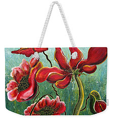 Endless Poppy Love Weekender Tote Bag