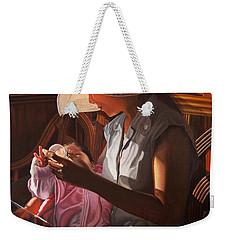 Weekender Tote Bag featuring the painting Enfamil At Ha Long Bay Vietnam by Thu Nguyen