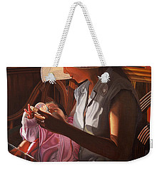 Weekender Tote Bag featuring the painting Enfamil At Ha Long Bay Vietnam by Thu Nguyen