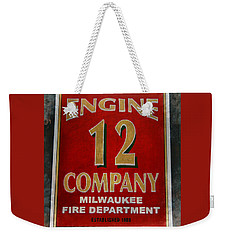 Engine 12 Weekender Tote Bag by Susan  McMenamin