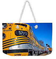Weekender Tote Bag featuring the photograph Engine 5771 by Shannon Harrington