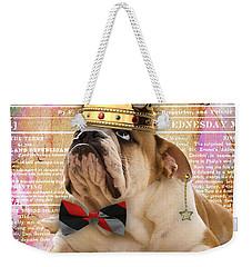 English Bulldog Bowtie Collection Weekender Tote Bag
