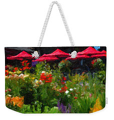 English Country Garden Weekender Tote Bag by Richard Farrington
