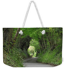 Weekender Tote Bag featuring the photograph English Country Lane by Jayne Wilson