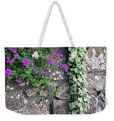 English Garden Wall Weekender Tote Bag
