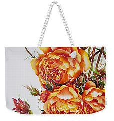 English Roses Weekender Tote Bag by Zaira Dzhaubaeva