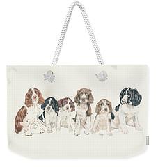 English Springer Spaniel Puppies Weekender Tote Bag