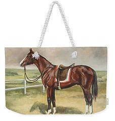 English Stallion Dark Bay Weekender Tote Bag