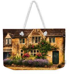 English Stone Cottage Weekender Tote Bag