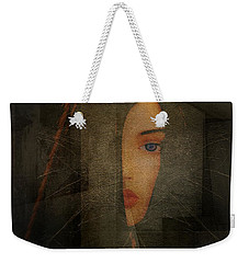 Weekender Tote Bag featuring the photograph Enigma by Irma BACKELANT GALLERIES