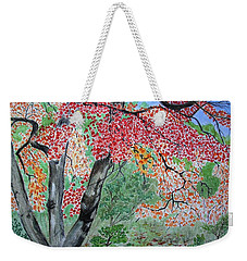 Enjoying Lost Maples Weekender Tote Bag