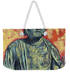Weekender Tote Bag featuring the painting Enlightenment by Tom Roderick