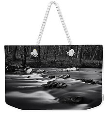Weekender Tote Bag featuring the photograph Eno River Smooth by Ben Shields