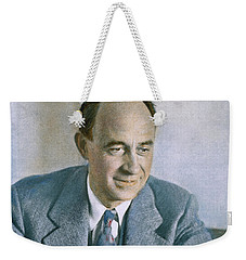 Weekender Tote Bag featuring the photograph Enrico Fermi (1901-1954) by Granger