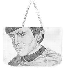 Weekender Tote Bag featuring the drawing Ensign Pavel Chekov by Thomas J Herring